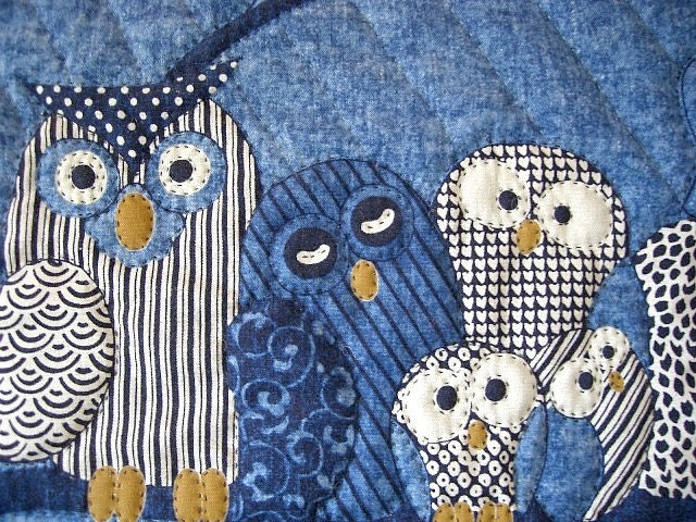 Free Worldwide Shipping Owl Wall Quilt