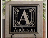 Last Name Monogram Vinyl   Perfect Gift for Weddings, Showers, and Christmas