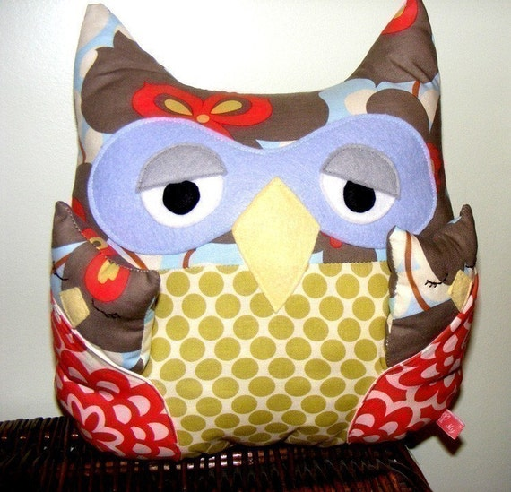 Owl Sewing Pattern instant download - Isabelle Owl PDF Pattern - with babies - Easy Softie Tutorial