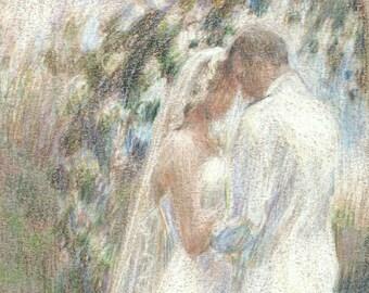 Custom Wedding Portrait - Oil Painting, Wedding Tribute, Wedding Gift, Bride and Groom, Bridal, Engagement Gift,  Fine Art, Original