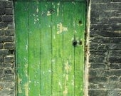 RESERVED-Green Door 4x6 print