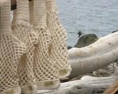 Crochet Beach Bag  Bread and Butter Bag  Handmade Crochet Reusable Market Tote