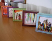 Framed Paper Bead Collage