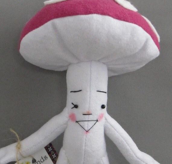 Mushroom Girl, Amanita Style with Hot Pink Cap