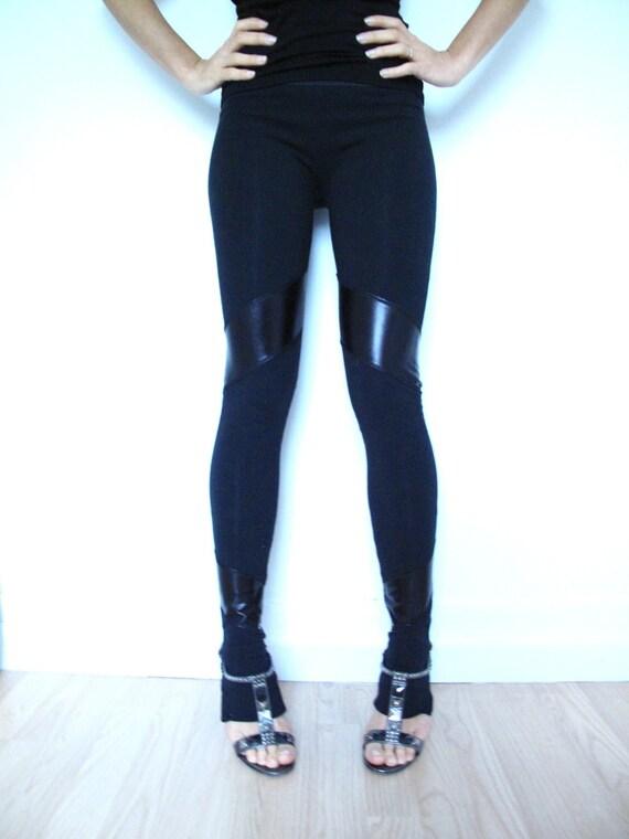 black skirt leggings with black spandex strips