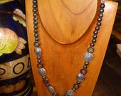 EXOTIC MULTICOLOR MARDI GRAS INSPIRED MAGNETIC NECKLACE