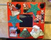 CHRISTMAS COLLAGE MIRROR Original Art