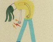 Rock On with your Socks On - Original Illustration