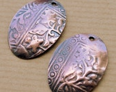 Athena Oval Copper Charms - 2 pieces - Free Shipping USA