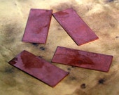"Qty 4 - Rectangle Copper Blanks 1 1/2x5/8""  -  FREE SHIPPING"