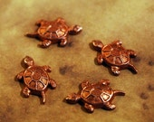 Qty. 4 Copper Turtle Components  -  FREE SHIPPING