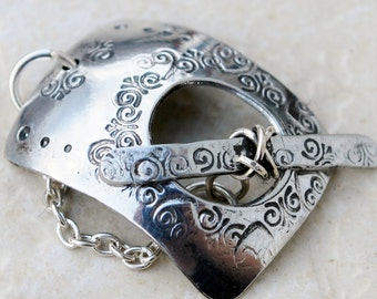 Rodeo Toggle Clasp in Aluminum with Swirl Stamps - FREE SHIPPING USA