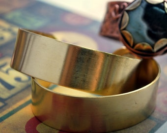 "Brass Cuff 3/4""  Solid 18g Bracelet Blank Finished or Unfinished - Free Shipping US"