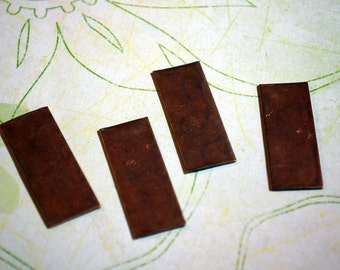 Qty 4  -  Bronze Rectangle Blanks   -  Free Shipping USA