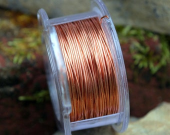 1oz Spool 24G Solid Copper Wire approx 50' -  Free Shipping USA