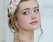Bridal Wrap Belt or Headband with Three Handmade Silk Habotai Flowers By Fine & Fleurie