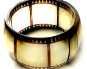 old film negative hand cast resin bangle,  bracelet - Made to Order - PLEASE read full description before ordering