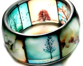 ttv viewfinder hand cast resin bangle,  bracelet - limited