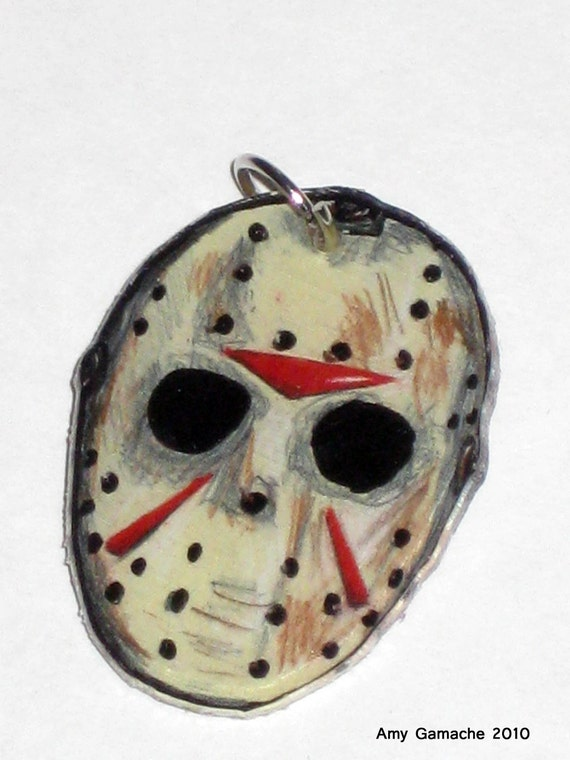 Jason vorhees friday the 13th hockey mask charm by squidfarts