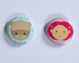 Cute Candi Menjou Button Set