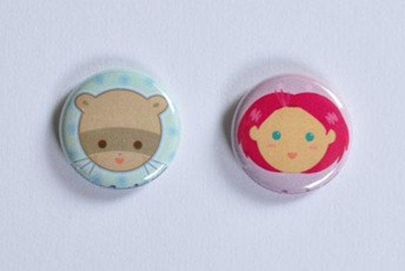Cute Candi Menjou Button Set