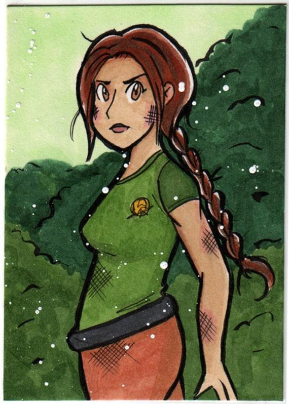 Katniss Everdeen Hunger Games ACEO Card