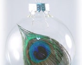 Peacock Feather Christmas Ornament - Calista