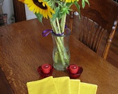 Reserved for Kaylaartist: 8 Lemon yellow dinner napkins