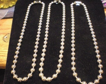 9 LARGE BALL chain for making jewelry 9 chains 6.5 mm