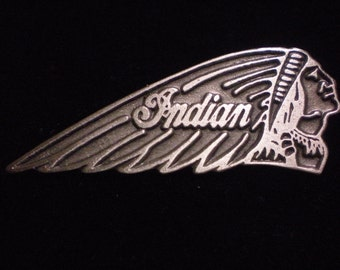 2 vintage pewter biker pin indian motorcycle