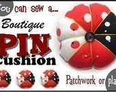 Learn how to make a boutique pin cushion eBook Instructions Directions PDF File Format
