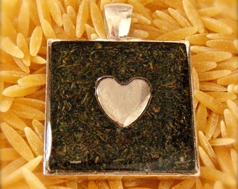 Dill Infused Heart Pendant