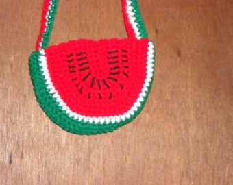 Darling Watermelon Slice Purse for Little Girl