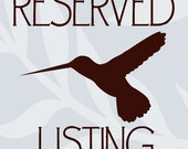 Reserved Listing for Mae