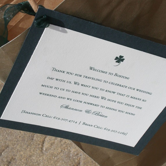 Wedding Labels For Gift Bags: Irish Wedding Gift Bag Tags