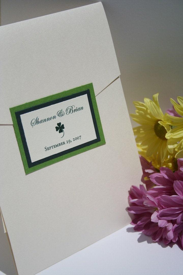 Irish wedding invitation for Etsy wedding invitations ireland