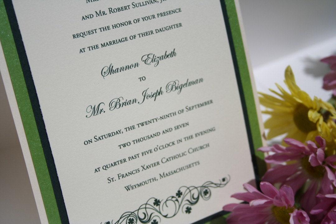 Irish wedding invitation by karacorrespondence on etsy for Etsy wedding invitations ireland