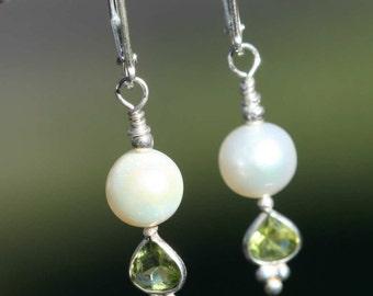 Peridot Drops Earrings