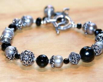 Sterling Pearls Bracelet