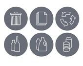 Recycle Symbols - Set of 6 decals
