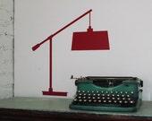 Table Lamp - Vinyl decal silhouette