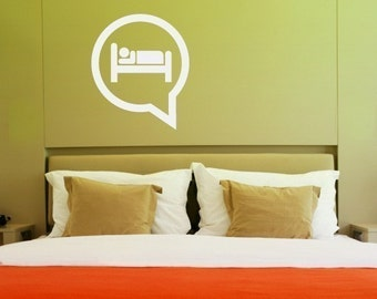 Bed Bubble - vinyl wall decals art graphic stickers