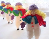 Fet Art Doll Mrs Snowman Comes This Winter Holiday ornament