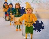 Felt Art Doll, Hanging Ornament Christmas Celebration