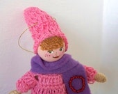 Valentine Dolls and Miniatures Valentine Hugs JJ Piksee Art Doll Hanging Ornament Valentine decoration