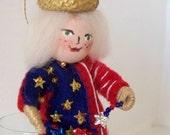 Stars and Stripes Wee Felt Doll Art July Fourth Decoration