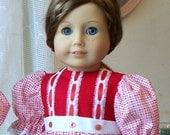 American Girl Doll Dress 18 inch doll dress Red Festive Dress