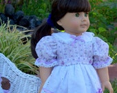 American Girl Doll Clothes Lavender Floral Doll Fits American Girl Doll or 18 inch doll