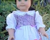 American Girl Doll Dress 18 inch doll dress Purple and lavender doll dress