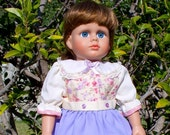 American Girl Doll Clothes 18 inch doll dress Lavender Flowers doll dress